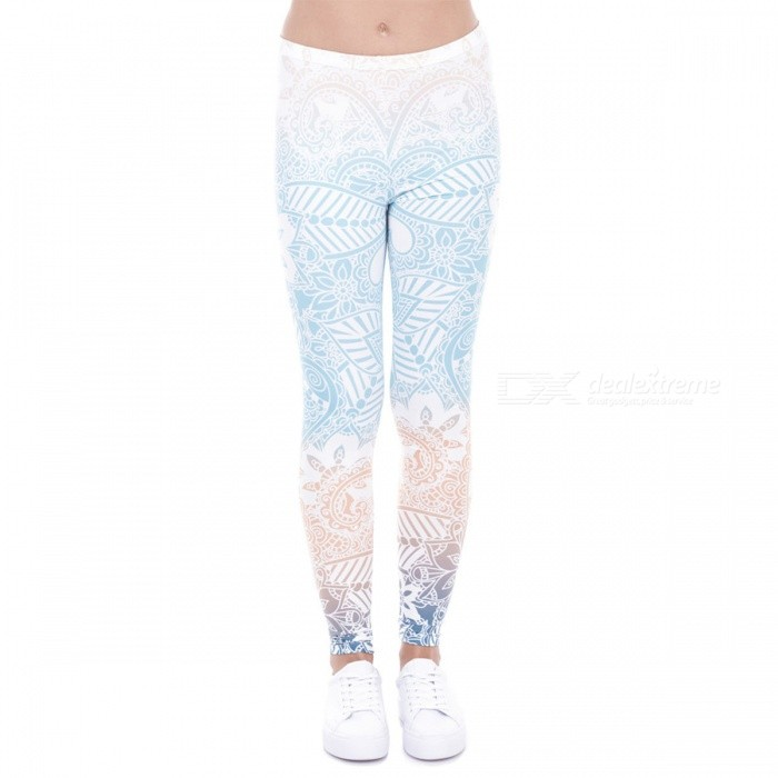 Buy Women's Mandala Mint Print Fitness Leggings with Litecoins with Free Shipping on Gipsybee.com