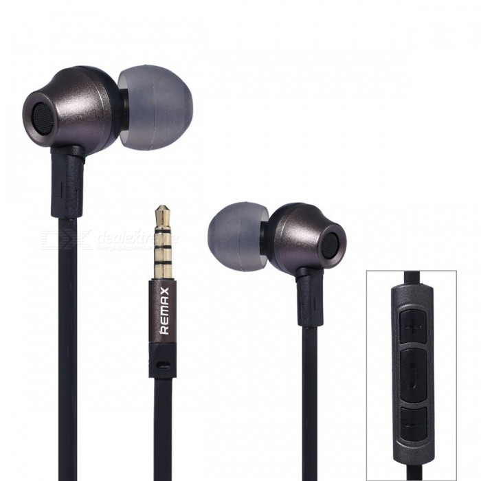 REMAX RM 610D HiFi Stereo Headphone with Microphone for Phone - BlackHeadphones<br>Form  ColorBlackBrandREMAXModelRM-610DMaterialABSQuantity1 DX.PCM.Model.AttributeModel.UnitConnection3.5mm WiredBluetooth VersionNoCable Length120 DX.PCM.Model.AttributeModel.UnitHeadphone StyleBilateral,In-EarWaterproof LevelIPX0 (Not Protected)Applicable ProductsUniversalHeadphone FeaturesHiFi,Phone Control,With MicrophoneSupport Memory CardNoSupport Apt-XNoSensitivity95dB±3dBFrequency Response20-20KHzImpedance32 DX.PCM.Model.AttributeModel.UnitDriver Unit10mmPacking List1 x Earphone<br>
