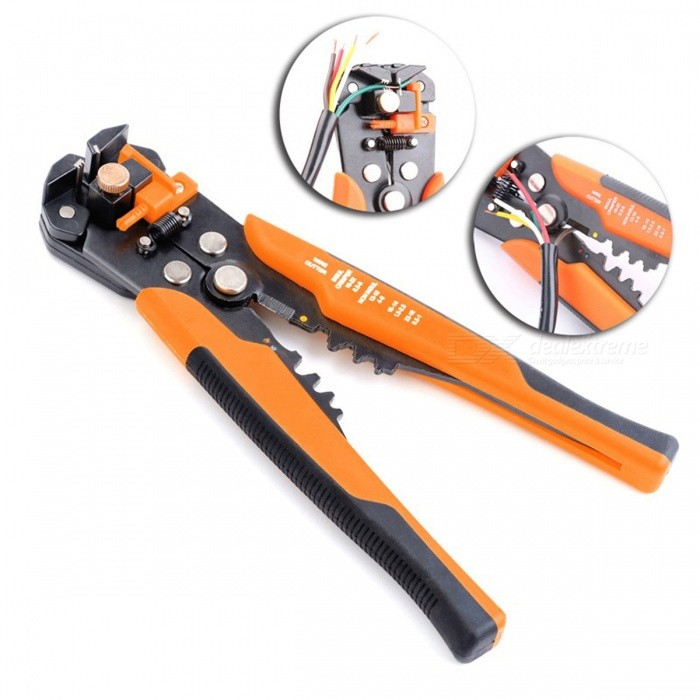 Buy Multifunctional Automatic Stripping Plier Cable Wire Stripper - Orange with Litecoins with Free Shipping on Gipsybee.com