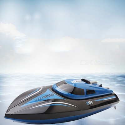 H100 2.4GHz 4-CH High Speed Cool RC Boat - Blue