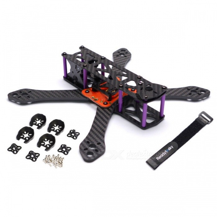 250mm 4mm Arm Thickness Carbon Fiber Frame Kit w/ PDB For FPV RacingOther Accessories for R/C Toys<br>Form  ColorBlack (250mm)MaterialCarbon fiberQuantity1 setCompatible ModelFPV RacingPacking List1 x Frame kit (unassemble)1 x Power distribution board1 x Battery belt4 x Motor protection covers<br>