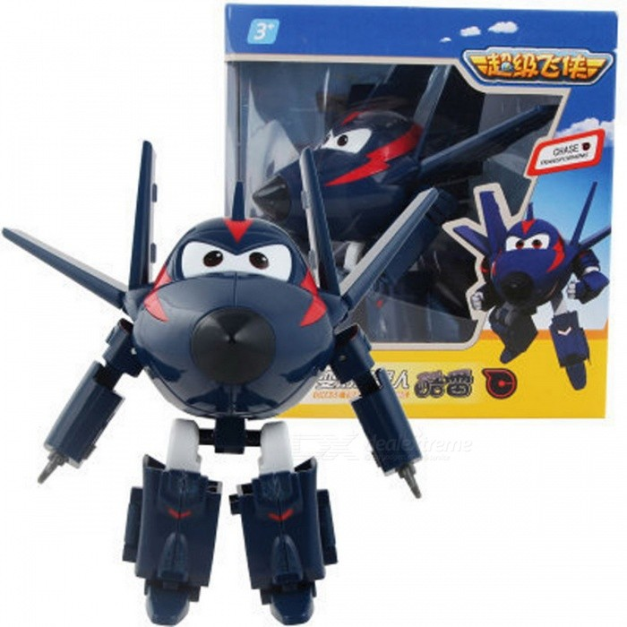 12cm ABS Super Wings Deformation Airplane Robot Toy - Dark BlueOther Toys<br>Form  ColorDeep BlueMaterialABSQuantity1 DX.PCM.Model.AttributeModel.UnitSuitable Age 3-4 years,5-7 yearsPacking List1 x Robot<br>