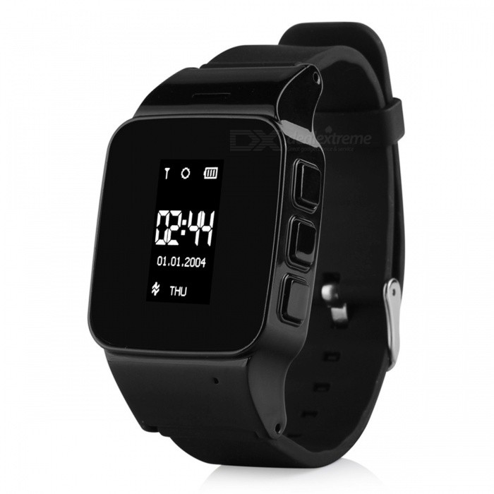 GPS/LBS Tracker Watch for Elderly People Children - BlackSmart Watches<br>Form  ColorBlackQuantity1 DX.PCM.Model.AttributeModel.UnitMaterialPlastic + MetalShade Of ColorBlackCPU ProcessorMTK3337Screen Size0.96 DX.PCM.Model.AttributeModel.UnitScreen ResolutionN/ANetwork Type2GCellularGSMBluetooth VersionNoCompatible OSAndroid, IOSLanguageRussian,Spanish,Turkish,Portuguese,English,GermanWristband Length24 DX.PCM.Model.AttributeModel.UnitWater-proofYesBattery ModeReplacementBattery TypeLi-ion batteryBattery Capacity400 DX.PCM.Model.AttributeModel.UnitStandby Time2 DX.PCM.Model.AttributeModel.UnitPacking List1 x Watch1 x Charging Cable1 x Manual<br>