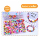 Girl Beads DIY Toy for Kids - Multi-Color (Letter Number)