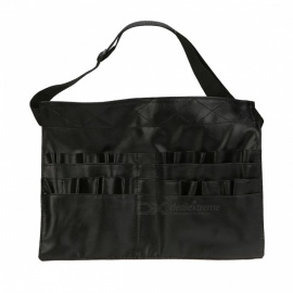 Professional-Protable-PVC-Two-Arrays-Brush-Make-Up-Bag-Black