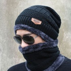 New-Knitted-Fashion-Beanies-Knit-Mens-Winter-Hat-Black-with-Collar