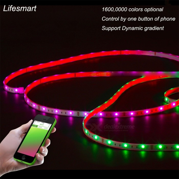 Colored Led Light Strips Mesmerizing 60M RGB LED Light Strip With Wireless Control By APP Free Shipping