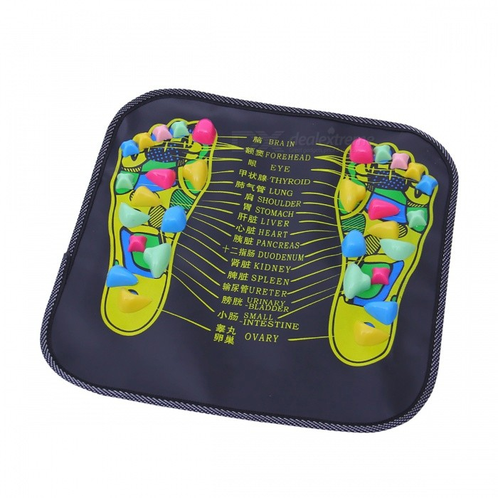 Reflexology Walk Stone Health Care Acupressure Massager MatRelax and Massagers<br>Form  ColorBlack + ColorfulModelN/AMaterialPPQuantity1 DX.PCM.Model.AttributeModel.UnitShade Of ColorBlackMassager PartFootPrinciple of Massage-Control Mode-Number of Massage Heads1 DX.PCM.Model.AttributeModel.UnitThermotherapy FunctionNoTiming FunctionNoPower SupplyOthers,-Power AdapterOthers,-Power- DX.PCM.Model.AttributeModel.UnitOther FeaturesFunction: Promote Blood CirculationPacking List1 x Reflexology Stone Mat<br>