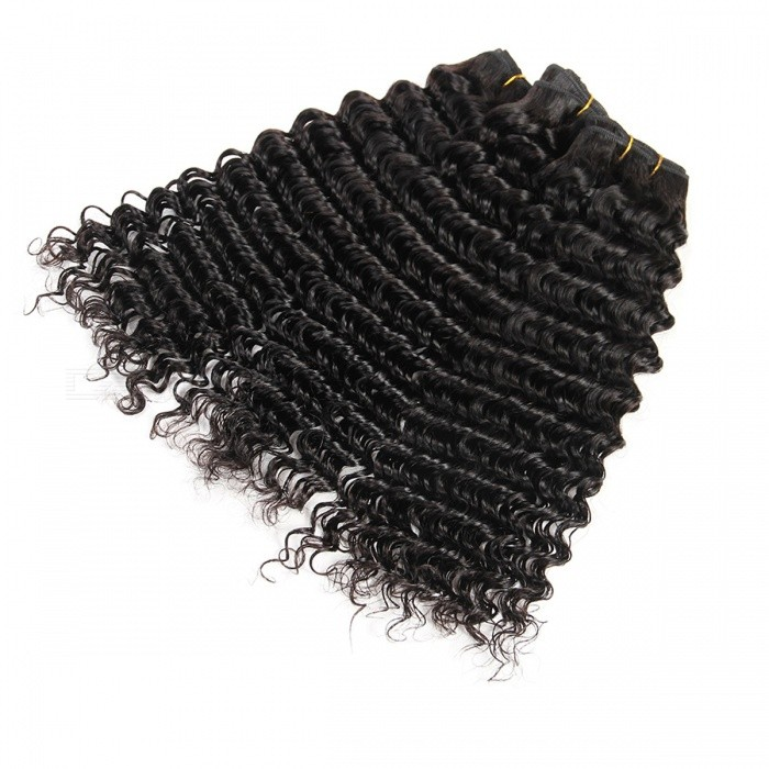 Buy 1 Bundle 100% Remy Human Hair Extension Weave - Natural Color (14Inch) with Litecoins with Free Shipping on Gipsybee.com