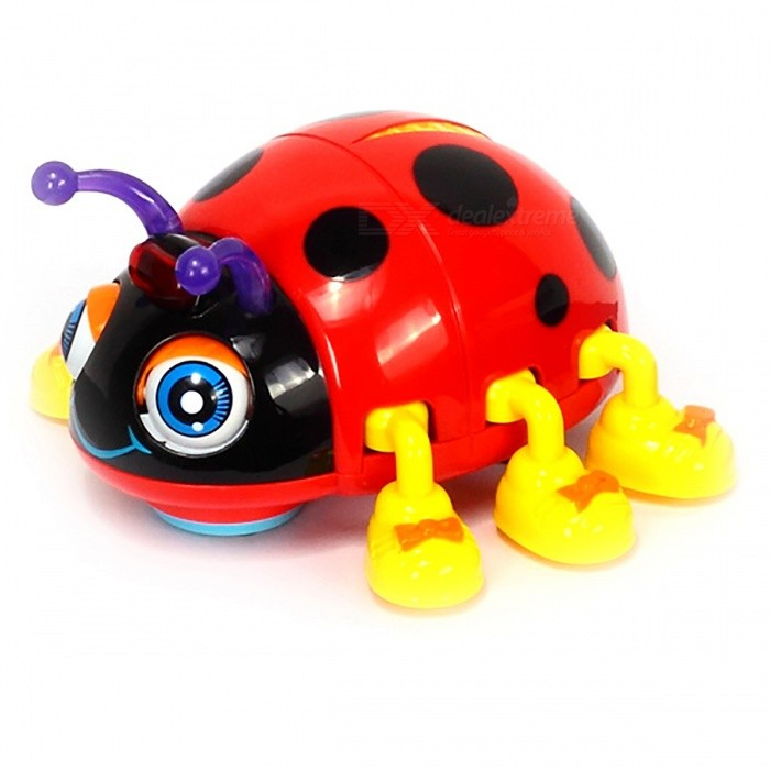 Infant Crawl Beetle Electric Toy Bee Ladybug with Music &amp; Light - RedOther Toys<br>Form  ColorRedModelN/AMaterialPlasticQuantity1 DX.PCM.Model.AttributeModel.UnitSuitable Age 3-4 years,5-7 yearsPacking List1 x Toy<br>
