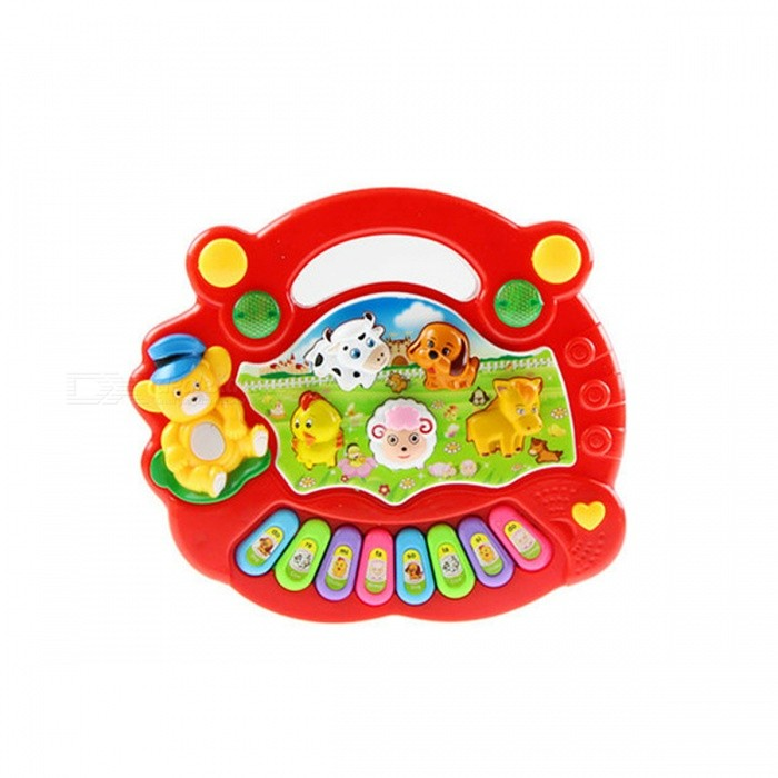 Electric Animal Farm Mobile Piano Smart Music Toy - RedEducational Toys<br>Form  ColorRedModelN/AMaterialPlasticQuantity1 DX.PCM.Model.AttributeModel.UnitSuitable Age 13-24 monthsPacking List1 x Music Toy<br>