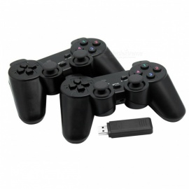 24GHz-Wireless-Game-Controller-Gamepad-Joystick-with-Vibration-for-PC-Black-(2PCS)