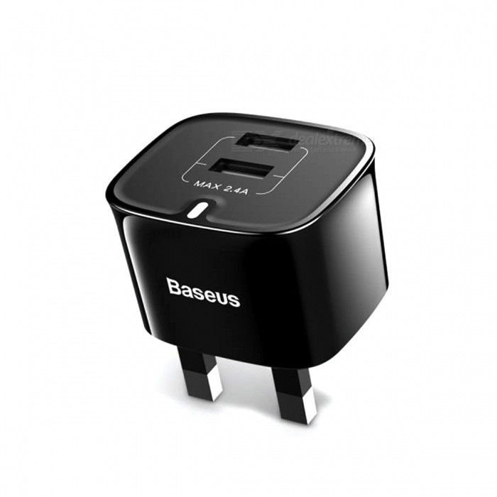 Baseus 2.4A Portable USB Wall Charger with Dual USB for Smart Phones - Black (UK Plug)AC Chargers<br>Form  ColorBlackModelCCALL-FZ0MaterialPC + ABSQuantity1 DX.PCM.Model.AttributeModel.UnitCompatible ModelsUniversalInput Voltage100-240 DX.PCM.Model.AttributeModel.UnitOutput Current2.4 DX.PCM.Model.AttributeModel.UnitOutput Voltage5 DX.PCM.Model.AttributeModel.UnitSplit adapter number2Power AdapterUK PlugQuick ChargeYesLED IndicatorYesCertificationFCC  CE ,RoHSPacking List1 x Wall Charger<br>