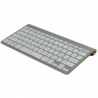 ZIENSTAR Russian Letter Ultra Slim 2.4GHz Wireless Keyboard with USB Receiver for Mackbook / Laptop / TV Box / PC - Grey + White