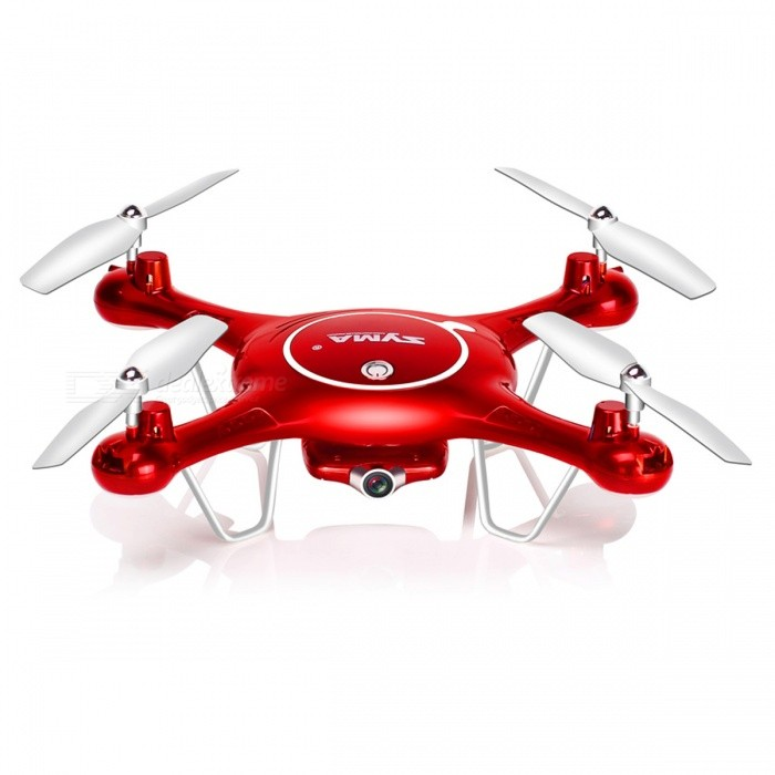 SYMA X5UW HD 720P 4CH FPV RC Quadcopter Drone with Wi-Fi Camera, Headless Mode, One-Key Taking Off - RedR/C Airplanes&amp;Quadcopters<br>Form  ColorRedMaterialPlasticQuantity1 DX.PCM.Model.AttributeModel.UnitShade Of ColorRedGyroscopeYesChannels Quanlity4 DX.PCM.Model.AttributeModel.UnitFunctionOthers,Ascending, landing, forward, backward, turning left and right, side flying around.Remote TypeRadio ControlRemote control frequency2.4GHzRemote Control RangeAbout 50-100 DX.PCM.Model.AttributeModel.UnitSuitable Age 12-15 years,Grown upsCameraYesLamp YesBattery TypeLi-ion battery,Others,-Battery Capacity500 DX.PCM.Model.AttributeModel.UnitCharging TimeAbout 130 DX.PCM.Model.AttributeModel.UnitWorking Timeabout 8-10 DX.PCM.Model.AttributeModel.UnitRemote Controller Battery TypeAARemote Controller Battery Number4 * AA battery (not included)Remote Control TypeWirelessModelMode 2 (Left Throttle Hand)Packing List1 x Syma X5UW quadcopter drone 1 x Remote Control 4 x Main Blades 4 x Protective Gears1 x Screwdriver 1 x Memory Card 1 x Card Reader 1 x USB Charger 1 x Mobile Phone Retaining Clip 1 x 3.7V 500mAh Lithium Battery 1 x Instruction<br>