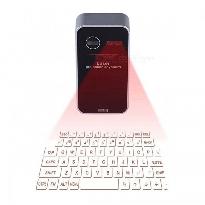 SUNGI English QWERTY Virtual Bluetooth Laser Projection Keyboard for Smartphone, Tablet PC, Laptop, Computer