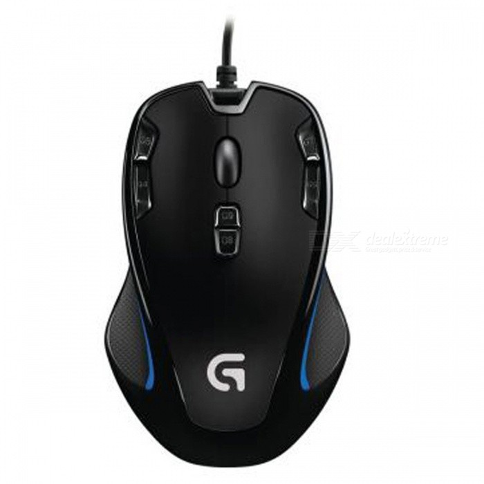 Logitech G300s 2500DPI Ergonomic Wired Optical Computer Gaming Mouse for PC LaptopGaming Mouse<br>Form  ColorBlackModelG300SQuantity1 pieceMaterialABSShade Of ColorBlackInterfaceUSB 3.0,USB 2.0Wireless or WiredOthers,N/AOptical TypeLEDResolution2500 DPIButton life20 million-click lifespanPowered ByUSBBattery included or notNoSupports SystemWin xp,Win7 32,Win7 64,Win8 32,Win8 64,MAC OS X,Android 4.x,Others,Win 10TypeGamingPacking List1 x Mouse 1 x User Documentation<br>