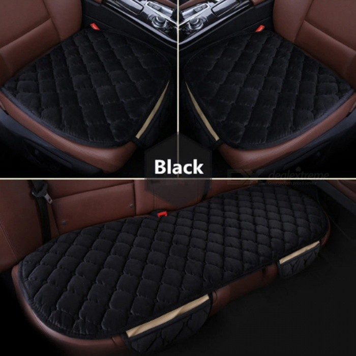 3Pcs/Set Universal Square Style Non-Slip Luxurious Warm Car Front Back Seat Cover Cushions for WinterCar Cushions and Pillows<br>Form  ColorBlack (3Pcs)ModelN/AQuantity1 DX.PCM.Model.AttributeModel.UnitMaterialCottonShade Of ColorBlackTypeCushionSurface MaterialCottonLining MaterialCottonPacking List3 x Car Seat Covers<br>