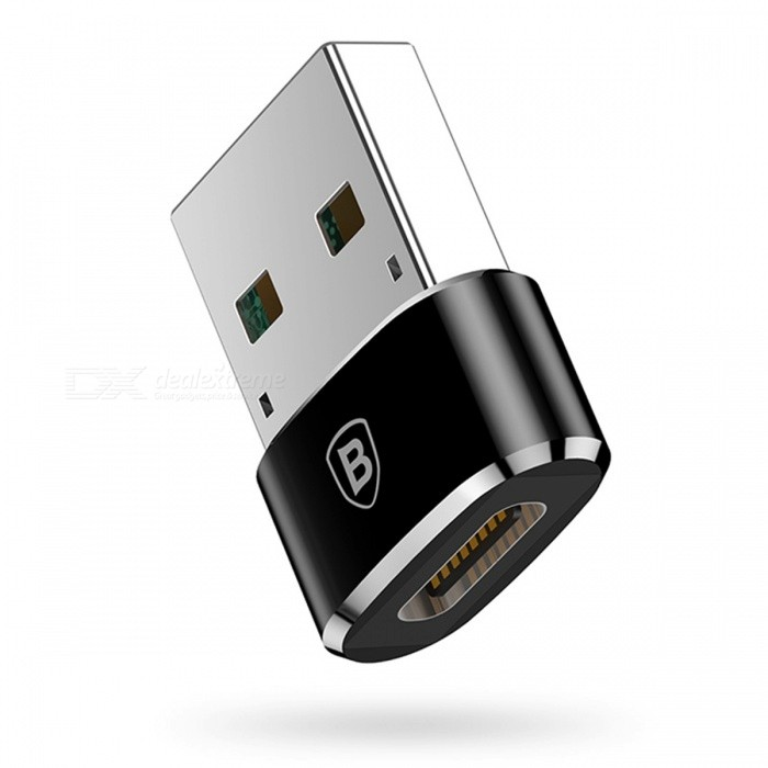 Baseus USB Male To Type-C Female Adapter Converter for Nexus 5X 6P Oneplus 3 2 - BlackAdapters &amp; Converters<br>Form  ColorBlackModelCAAOTG-01MaterialAluminum AlloyQuantity1 DX.PCM.Model.AttributeModel.UnitCompatible ModelsSmartphones, Tablet PCs etc.Main FunctionsData Transmission &amp; Fast ChargeConnectorUSB, Type-CSplit adapter number1Packing List1 x Adapter<br>
