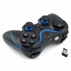 Wireless Game Controller Joystick Gamepad with OTG for PC Games - Black + Blue