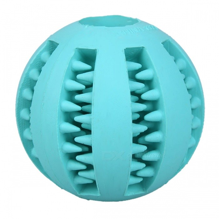 Buy 5cm Bite Resistant Soft Rubber Bouncy Ball Tooth Cleaning Dog Chew Toy with Litecoins with Free Shipping on Gipsybee.com