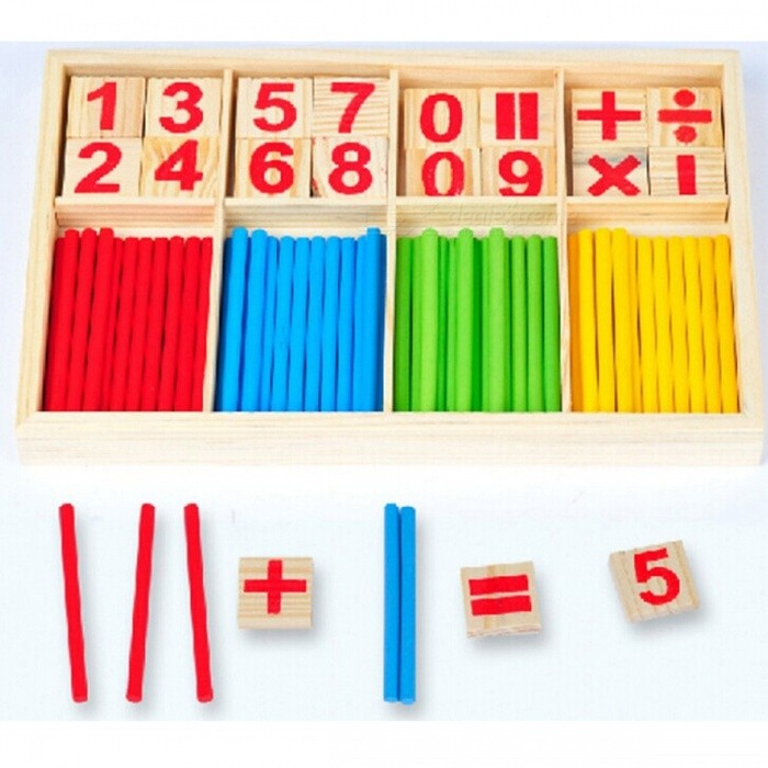Wooden Montessori Mathematical Counting Sticks Toy for Baby Gift