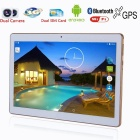 "BDF 10"" Original Design 3G Phone Call Wi-Fi Quad-Core Android 6.0 Tablet PC with 2GB RAM, 16GB ROM - Golden"