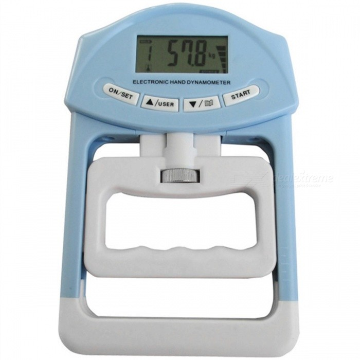 Buy 90kg/198Ib Portable Digital LCD Dynamometer Hand Grip Strength Meter - Blue with Litecoins with Free Shipping on Gipsybee.com