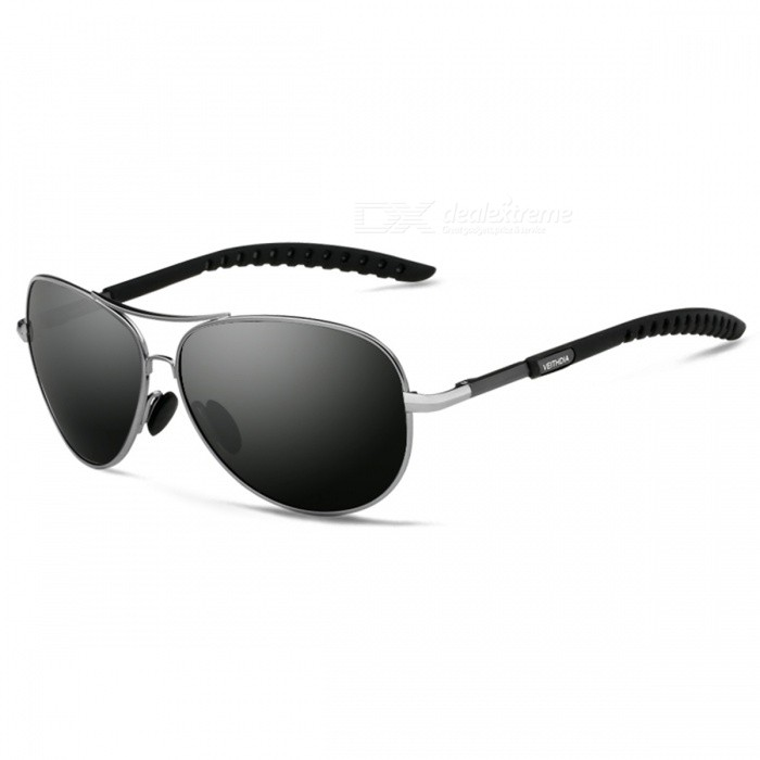 Buy UV400 Polarized Men's Sunglasses, Suitable for Round Face, Oval Face, Long Square Face - Gray with Litecoins with Free Shipping on Gipsybee.com