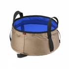 10L Portable Foldable Ultralight Camping Shower Bath Bucket Wash Bag - Blue