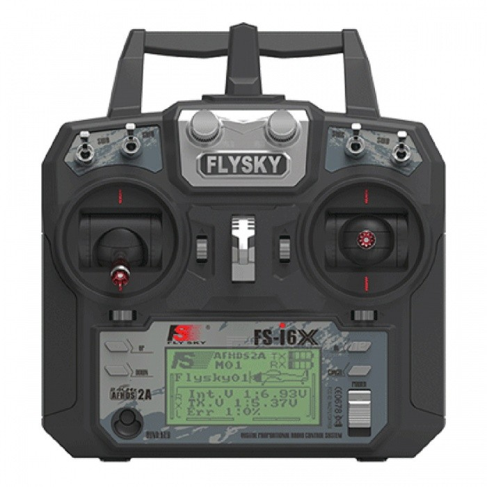 Flysky FS-i6X 2.4GHz 6CH RC Transmitter I6X with IA6B ReceiverOther Accessories for R/C Toys<br>Form  ColorBlack (I6X with IA6B)ModelN/AMaterialMetalQuantity1 DX.PCM.Model.AttributeModel.UnitCompatible ModelFixed-Wing/Glider/HelicopterPacking List1 x Flysky FS-i6X Transmitter1 x Flysky 6ch FS-IA6B Receiver<br>