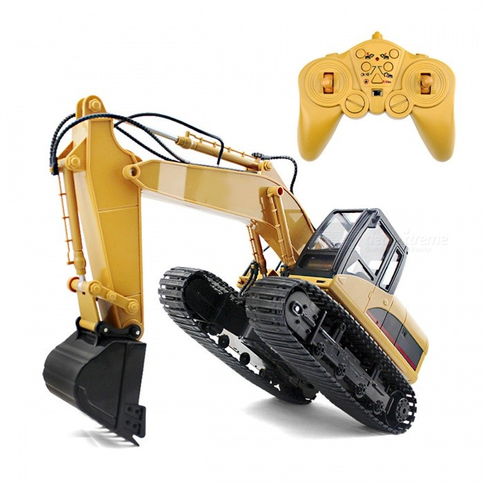 Buy 15 Channel 2.4G 1:12 RC Excavator RTG Car with Battery for Kids with Litecoins with Free Shipping on Gipsybee.com