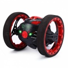 PEG SJ88 Mini 2.4GHz 2CH RC Bounce Car con ruedas flexibles, luz LED giratoria - Rojo