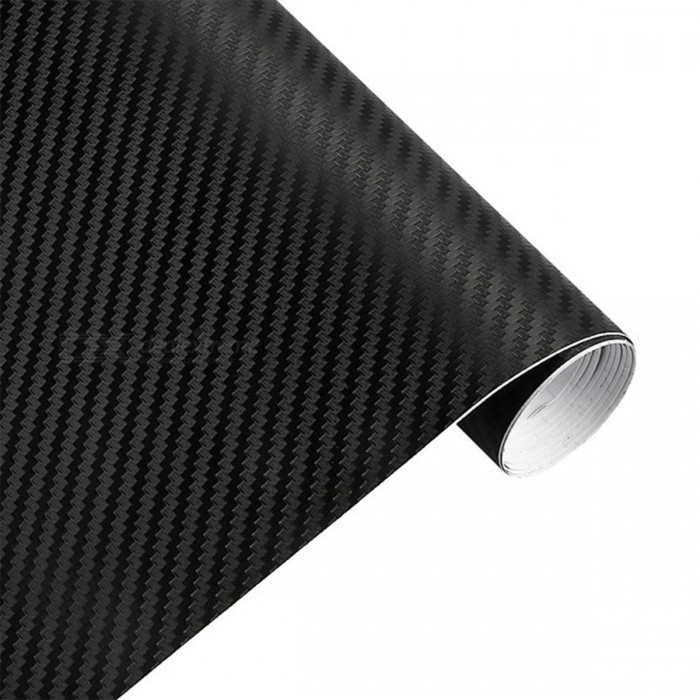 3D 3m 127cmx15cm Waterproof Car Wrap Sheet Roll Carbon Fiber Vinyl Film Paper, Sticker Decal - BlackCar Stickers<br>Form  ColorBlackModel·Quantity1 DX.PCM.Model.AttributeModel.UnitMaterialHigh flexible polymeric PVC filmShade Of ColorBlackApplicationOthers,N/ATypeOthers,N/APacking List1 x Car Sticker<br>