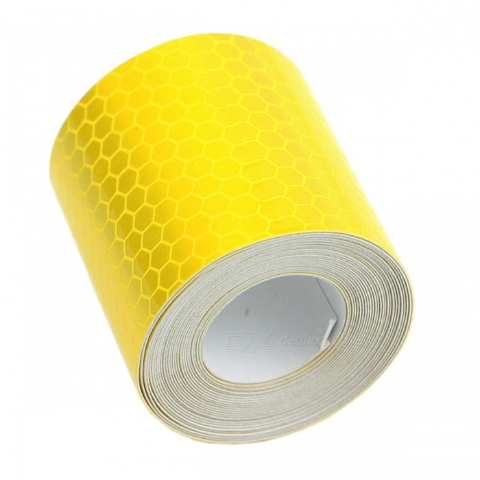 Reflective Safety Warning Conspicuity Tape Film Sticker - YellowCar Stickers<br>Form  ColorYellowModelN/AQuantity1 DX.PCM.Model.AttributeModel.UnitMaterialPVC Glue StickerShade Of ColorYellowApplicationOthers,-TypeOthers,-Packing List1 x Reflective Safety Film Sticker<br>