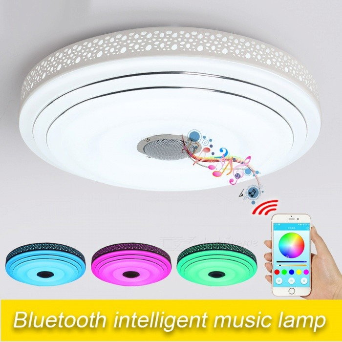 Round Shape 36w Rgb Dimmable Led Ceiling Light With Bluetooth Music For Living Room 85 265v