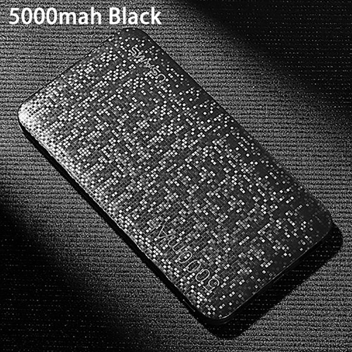 USAMS US-CD20 Portable Ultra Slim 5000mAh Power Bank for Cell Phone / Tablet PC - BlackMobile Power<br>Form  ColorBlackModelUS-CD20Quantity1 DX.PCM.Model.AttributeModel.UnitMaterialABSShade Of ColorBlackCompatible ModelsOthers,universalCompatible TypeUniversalBattery TypeLi-polymer batteryBuilt-in Battery ModelOthers,N/AVoltage5 DX.PCM.Model.AttributeModel.UnitCapacity Range4001mAh~5000mAhNominal Capacity5000 DX.PCM.Model.AttributeModel.UnitBattery Measured Capacity N/A DX.PCM.Model.AttributeModel.UnitInput5V/2.1AOutput interface, output current, output voltage5V/2.1ACharging TimeN/A DX.PCM.Model.AttributeModel.UnitWorking TimeN/A DX.PCM.Model.AttributeModel.UnitQuick ChargeYesFeaturesLED IndicatorPacking List1 x Power Bank1 x Micro USB Charging Cable<br>
