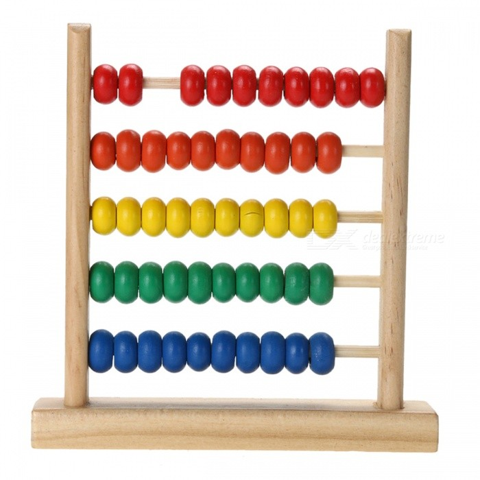 Small Abacus Handcrafted Wooden Toy for Baby Kids