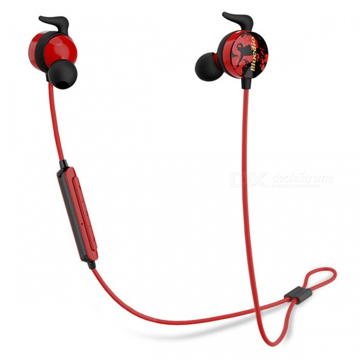 Bluedio AI Sports Wireless Bluetooth Headset Earphones Headphones - RedHeadphones<br>Form  ColorRedBrandBluedioModelAIMaterialPlasticQuantity1 DX.PCM.Model.AttributeModel.UnitConnectionBluetoothBluetooth VersionBluetooth V4.2Operating Range10MConnects Two Phones SimultaneouslyYesHeadphone StyleBilateral,HeadbandWaterproof LevelOthers,SweatproofApplicable ProductsUniversalHeadphone FeaturesPhone Control,Noise-Canceling,Volume Control,With Microphone,Lightweight,Portable,For Sports &amp; ExerciseSupport Memory CardNoSupport Apt-XNoSensitivity110dBFrequency Response20-20000HzImpedance32 DX.PCM.Model.AttributeModel.UnitBattery TypeLi-ion batteryStandby Time180 DX.PCM.Model.AttributeModel.UnitTalk Time6 DX.PCM.Model.AttributeModel.UnitMusic Play Time6 DX.PCM.Model.AttributeModel.UnitPacking List1 x Earphones1 x Carry case1 x Box1 x Inner hard box1 x USB charging cable3 x Pairs of earbud tips (S, M, L, M is attached to the earphone)3 x Pairs of ear hooks (S, M, L, M is attached to the earphone)<br>