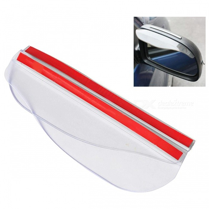 Universal Car Rearview Mirror Water Guard Rainproof Cover Eyebrow Visor Shade Shield - 2PCSOther Exterior<br>Form  ColorWhiteModel3MQuantity1 DX.PCM.Model.AttributeModel.UnitMaterialPVCCompatible MakeUniversalPacking List2 x Car Rearview Mirror Rain Covers (without retail package)<br>