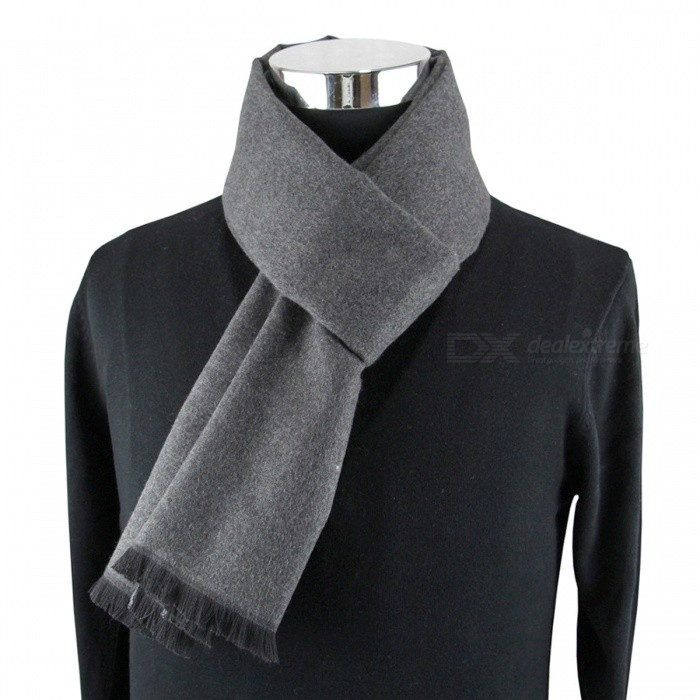 Premium Winter Warm Casual Mens Cashmere Modal Neckercheif Scarf - GrayScarves<br>Form  ColorGreyQuantity1 DX.PCM.Model.AttributeModel.UnitShade Of ColorGrayMaterialSilk,Cashmere,Viscose,WoolGenderMenSuitable forAdultsPattern/Scarf Length180 DX.PCM.Model.AttributeModel.UnitScarf Width30 DX.PCM.Model.AttributeModel.UnitPacking List1 x Scarf<br>