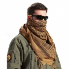 Winter Windproof Cotton Thick Muslim Hijab Military Tactical Desert Arabic Scarf - Brown