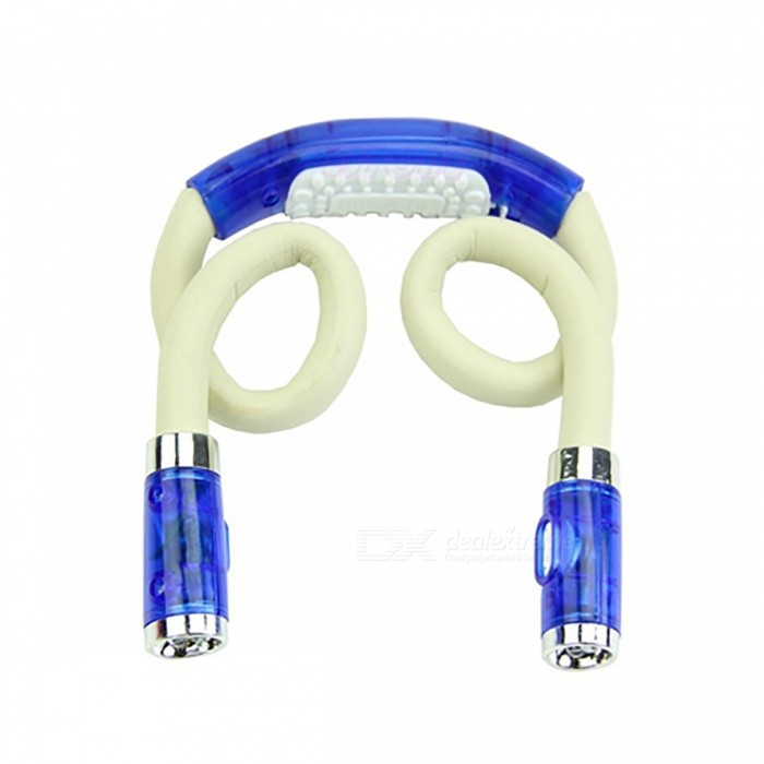 Creative Portable Hands-Free Flexible Neck LED Night Light Flashlight - BlueLED Nightlights<br>Form  ColorWhite + BlueMaterialABSQuantity1 DX.PCM.Model.AttributeModel.UnitPower1WRated VoltageOthers,/ DX.PCM.Model.AttributeModel.UnitColor BINWhiteEmitter TypeLEDTotal Emitters2DimmableNoInstallation TypeOthers,No NeedPacking List1 x Hands-Free Flexible Neck Light<br>