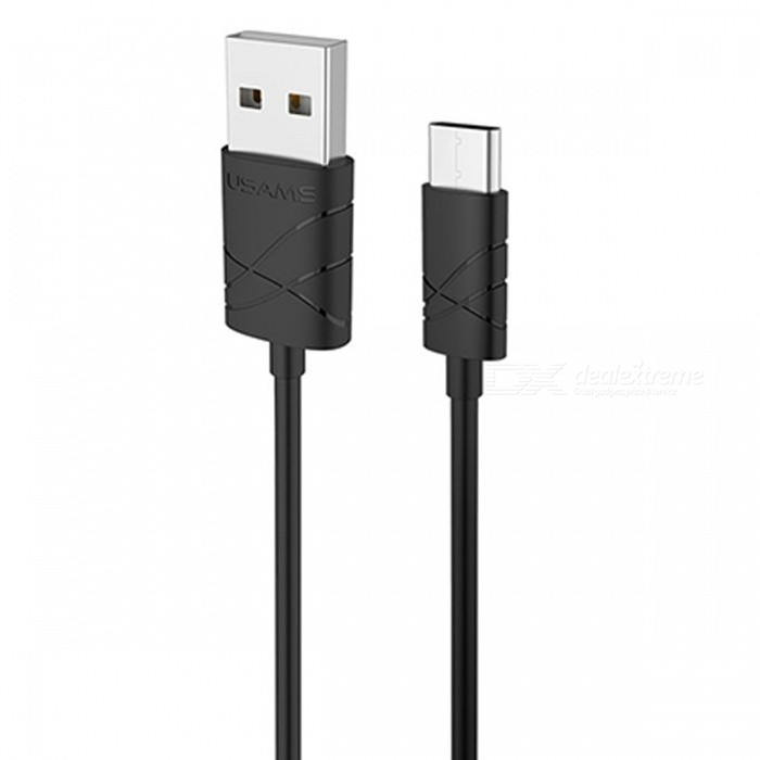 USAMS 2.1A USB Type-C Charging Sync Data Cable - Black (1M)Cables<br>Form  ColorBlackMaterialPVCQuantity1 DX.PCM.Model.AttributeModel.UnitCompatible ModelsOneplus Xiaomi and more phonesCable Length100 DX.PCM.Model.AttributeModel.UnitConnectorUSB, Type-CSplit adapter number1Packing List1 x Type-C Data Cable<br>
