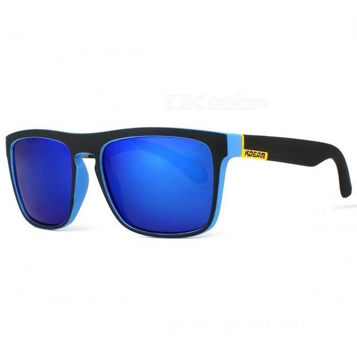 Mens Sport Eyewear, Reflective Coating UV400 Polarized Sunglasses with Case - BlueSport Sunglasses<br>Frame ColorBlackLens ColorBlueModelKD156Quantity1 DX.PCM.Model.AttributeModel.UnitShade Of ColorBlueFrame MaterialPlastic + MetalLens MaterialPolaroidProtectionUV400, Anti-Reflective, PolarizedGenderMenSuitable forAdultsFrame Height4.4 DX.PCM.Model.AttributeModel.UnitLens Width5.5 DX.PCM.Model.AttributeModel.UnitBridge Width1.8 DX.PCM.Model.AttributeModel.UnitOverall Width of Frame14.5 DX.PCM.Model.AttributeModel.UnitOther FeaturesUse Occasions:Fishing,Outdoor,Shopping, Party, Driving, SportPacking List1 x Sunglasses1 x Cleaning cloth1 x Original box1 x Test card<br>