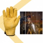Safety Cowhide Leather Security Protection Gloves for Driver Worker - L