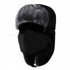 Unisex-Bomber-Fur-Warm-Thickened-Ear-Flaps-Winter-Hat-for-Men-Women-Black