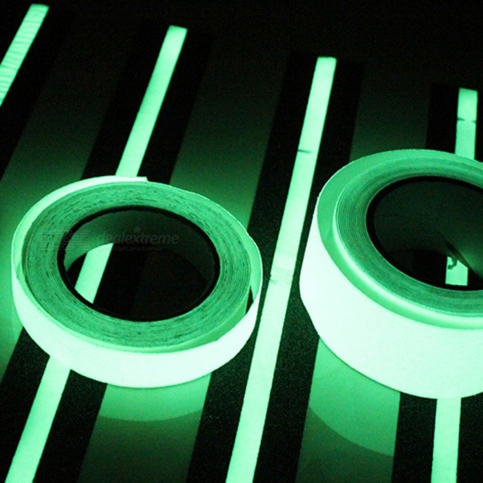 10m 10mm Luminous Self-adhesive Warning Tape for Home Safety Security Decoration