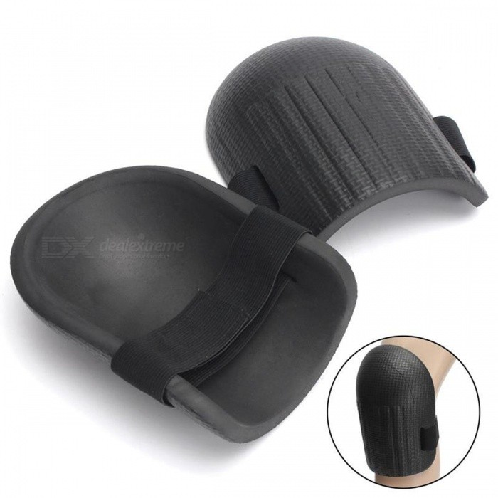 Soft Foam Kneepads, Protect You Knee From Injuries - Black (1 Pair)