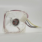 80mm PC Computer Silent Cooling Fan Axial Fan with Blue LED Light - DC 12V